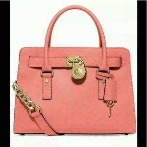 Michael Kors Hamilton lg satchel pink grapefruit